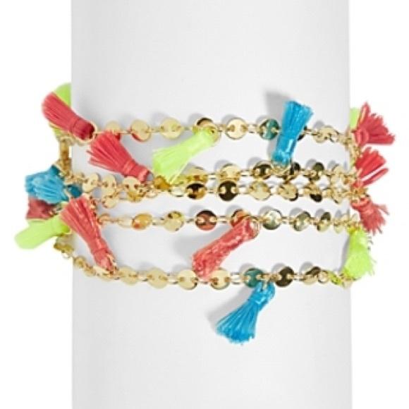 Baublebar Accessories - BAUBLEBAR Rick multi-row chain and tassel bracelet
